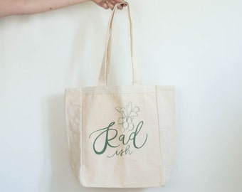 Radish Hand Lettered Tote Bag