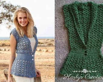 Hand Crocheted Women's Sweater Vest