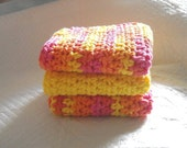 Crocheted Cotton Dish Clothes/Wash Clothes