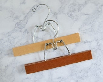 Vintage Pair of Wood Pants Hangers - Clamp Style Wooden Photo Display