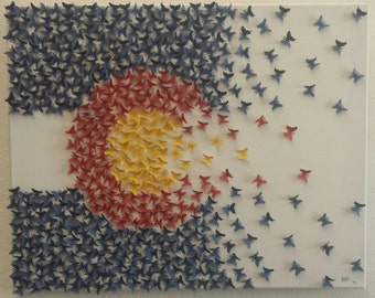 Colorado Flag Butterfly Art