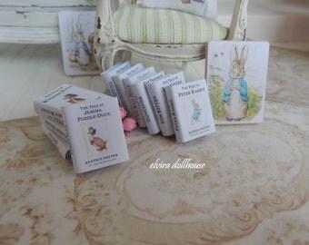 Beatrix Potter Books, Dollhouse Miniature,1:12  Scale Dolls House