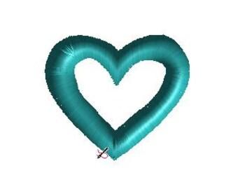 Mini Satin Stitch Open Heart Embroidery Design in 3 Sizes Small Machine Embroidery Heart Design