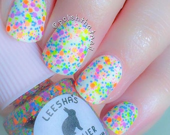 Ions of Neon - Full Size or Mini Neon Rainbow Glitter Nail Polish