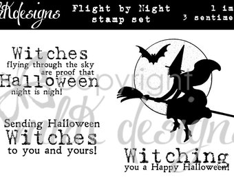 Flight By Night Digital Stamp Set