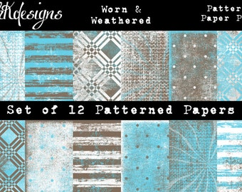 Worn & Weathered Digital Paper Pack