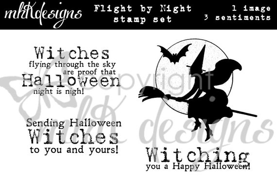 Flight By Night Digital Stamp Set