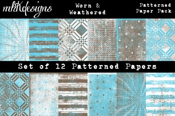 Worn & Weathered Digital Paper Pack