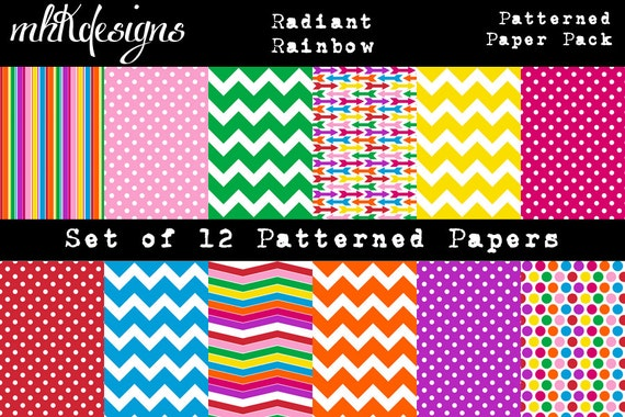 Radiant Rainbows Patterned Paper Pack