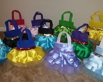 Princess Purses - birthday party - halloween costume - goodie bag - party favor- tutu tote bag