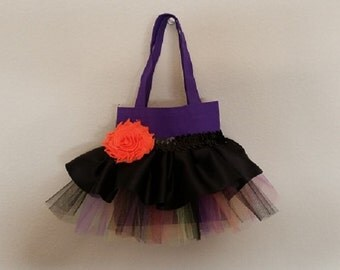 Halloween Witch Tutu Purse Goodie Bag Party Favor Tote