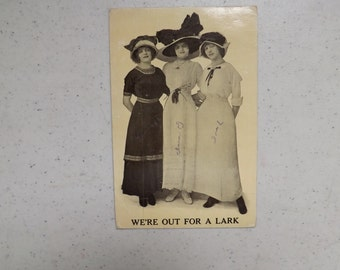 Antique Post Card Women Trio