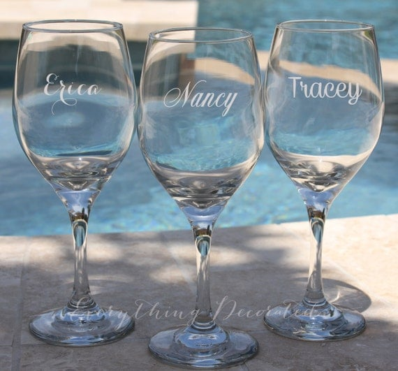 Personalised Wedding Gift Glasses : Wedding Gift, Custom Wine Glass, Anniversary Gift, Christmas Gift ...