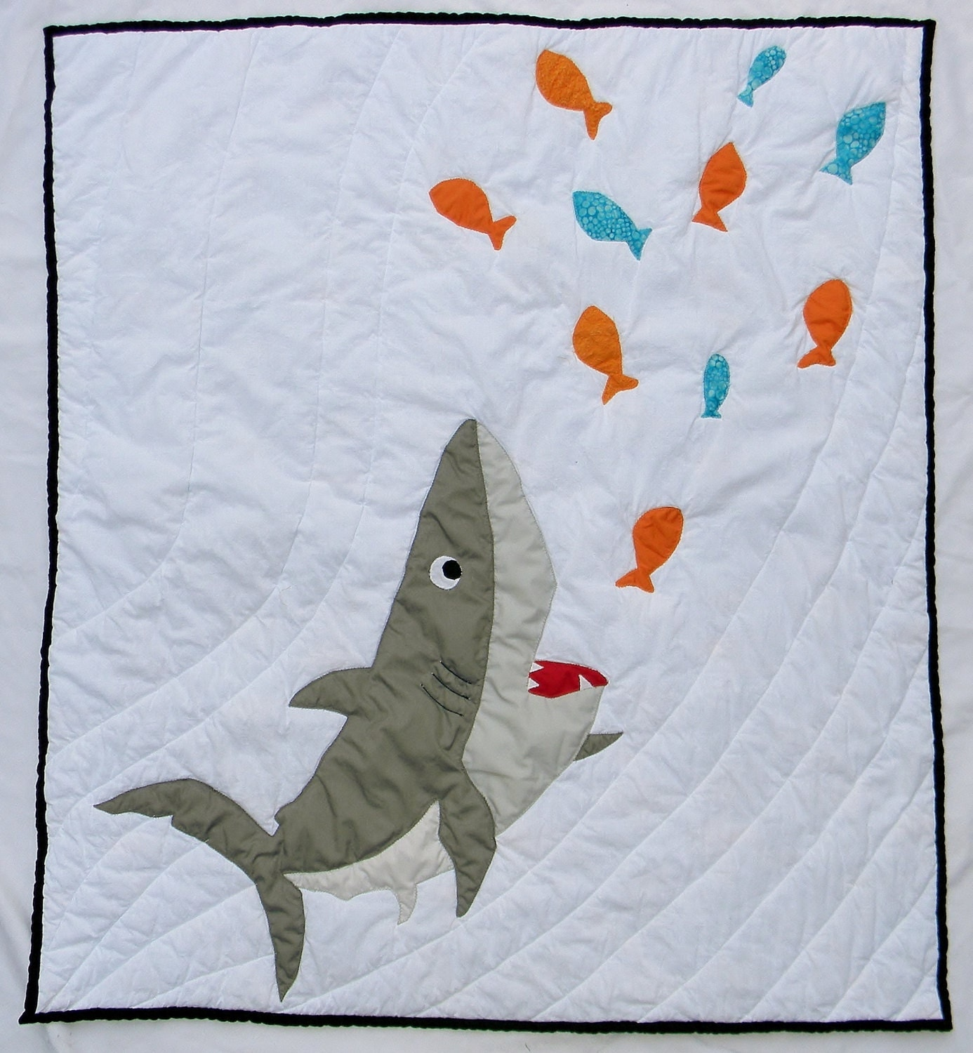 Shark Baby Quilt Shark Baby Blanket Nautical By Createdbymammy