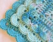 Aqua Ombre Washcloths - Crochet Dishcloths