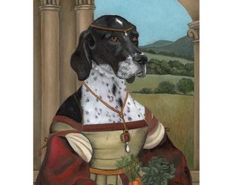 English Pointer Prints, Shadow, Funny Pet Gift, Dog Gag Gift, Pet Gag Gift