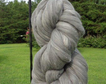 Gray 100% Australian Merino Wool Top Roving Fiber Spinning, Felting Crafts  -SALE! Choose - 1 lb, 2 lb, 4 lb, 8 lb, 10 lb