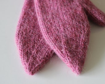 Handknit Elf mittens (for humans, too) of pure Icelandic wool