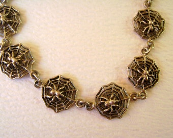sweet spiders in a bracelet, sterling