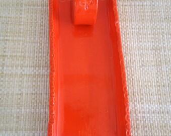 Orange Butter Dish