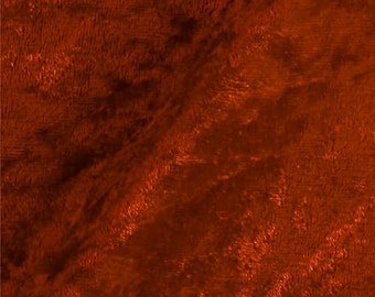 Crushed Panne Velour Fabric Rust  - 1 Yard Style 10002