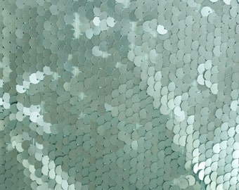 All-over Round Mint Sequins Fabric by the yard Sequins - 1 Yard 2707