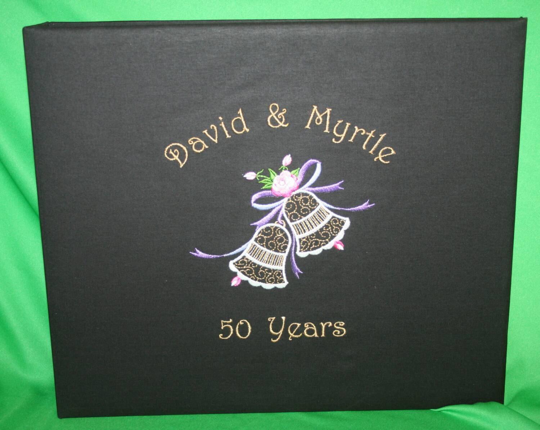 Anniversary scrapbook photo album