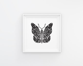 Choose Your Colour Zen Butterfly Print (A4 / A3)