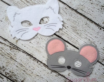 Cat and Mouse Mask Set