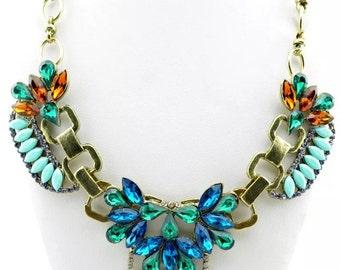 Glam Vintage Inspired Handmade - Statement Necklace