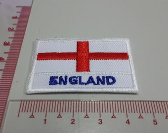 England Flag Iron on patch - Flag Applique Embroidered Iron on Patch