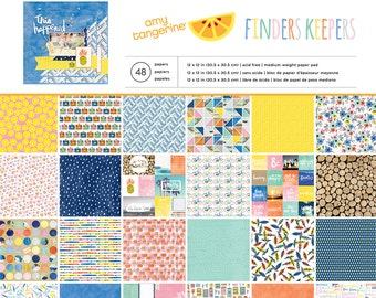 Amy Tangerine - Finders Keepers Collection - 12x12 Paper Pad - 48 Sheets - 340230