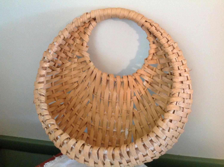 Wall Mount Flower Basket : Wicker wall pocket flower basket mount