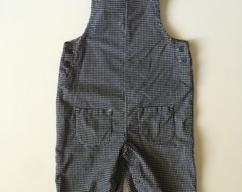 Vintage Houndstooth Overalls for Toddler Boy