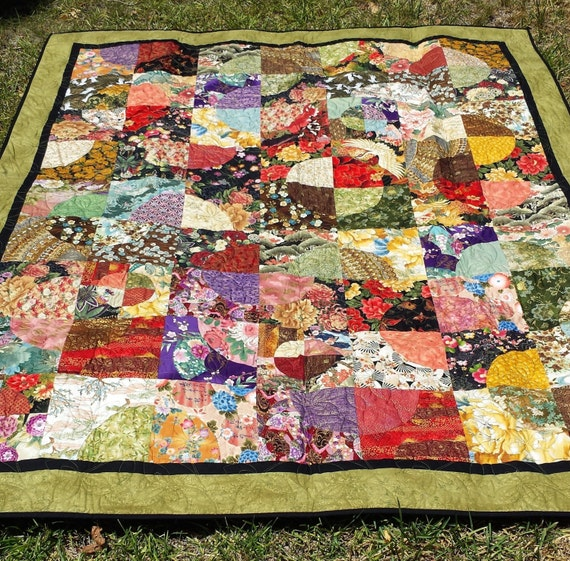 handmade quilt prices price reduced handmade asian inspired circles quilt asian 2677