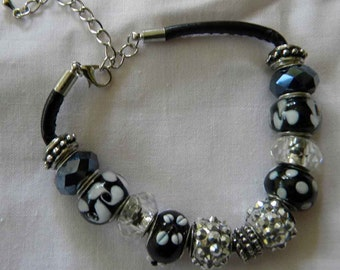 Black Big Holed Beads