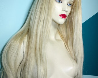 Front Lace Wig Wigs Remi Remy Indian Human Hair Curly Blonde 613 choose Length and Texture