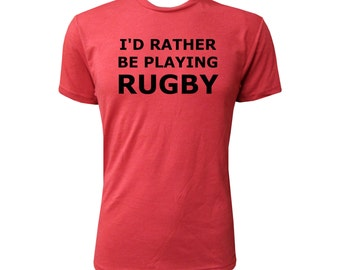 I'd Rather Be Playing Rugby - NLA Vintage Red