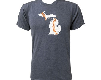 Michigan Baseball (White/Orange) - NLA Vintage Navy