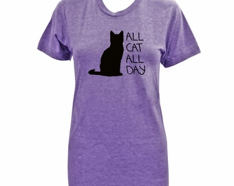 All Cat All Day - Ladies Tri Orchid