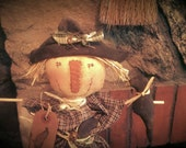 Black Friday Sale Primitive -Fall- Scarecrow Bobbin Doll -with Olde Crows