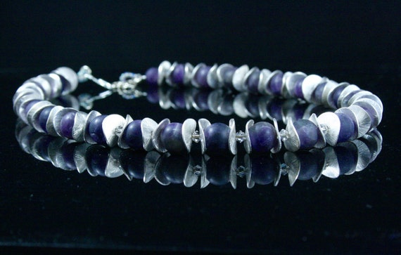 Amethyst and Silver Necklace...Nordic Wine