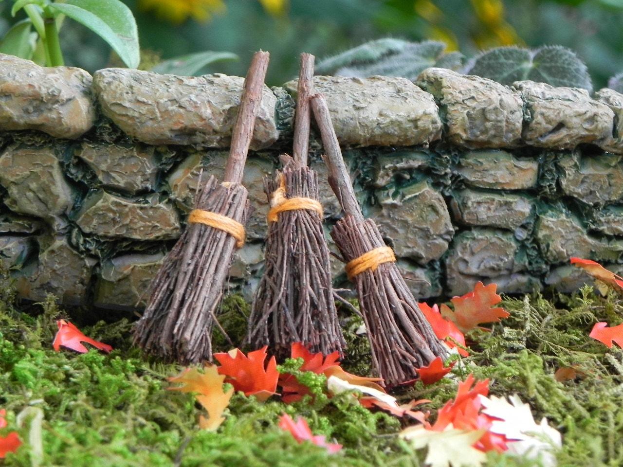 Broom miniature garden supply fairy garden accessories for How to make a fairy garden accessories