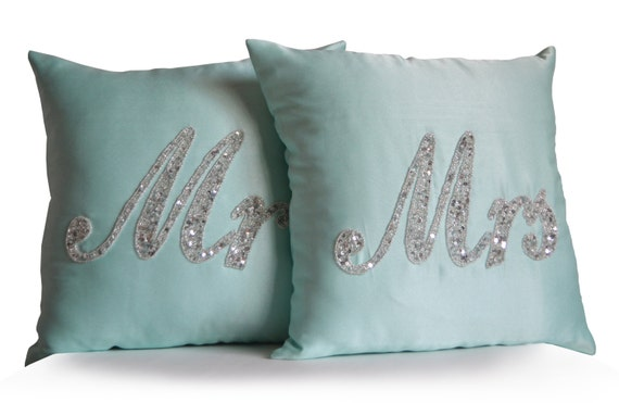 Mr Mrs Wedding Gifts: Mr And Mrs Sign Mr Mrs Pillow Wedding Gift Wife Husband Bride