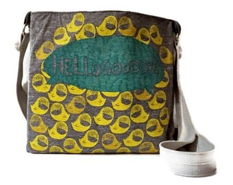 Hellogoodbye Bag Upcycled T-shirt Crossbody Bag