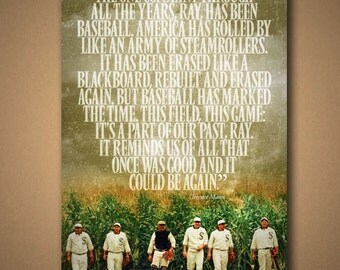 FIELD OF DREAMS Terence Mann Quote Poster