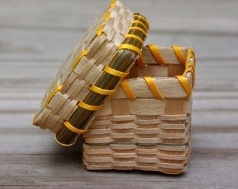 Miniature Black Ash Native American Basket