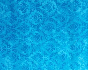 Reusable cotton shopping bag - blue fabric