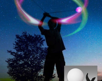 Color Strobing LED POI - Great Beginner Set - 6 Modes - POI Balls