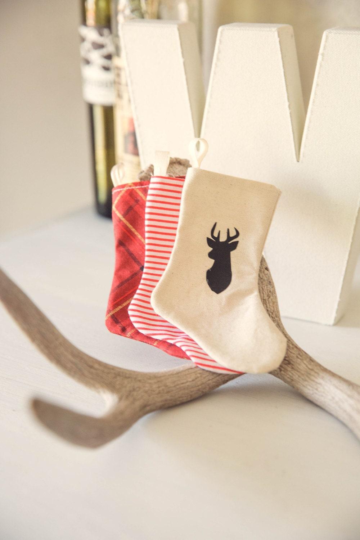 utensil holder miniature christmas stocking holiday table flatware